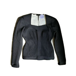 Herve Leger By Max Azria Knit Bandage Long Sleeves Top M. Orig $1467