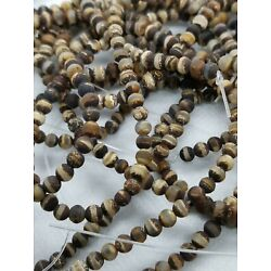 Kyпить TIBETAN AGATE BROWN Matte 4mm ROUND GEMSTONE BEADS 14