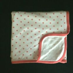 Kyпить Carter's Floral Baby Blanket Swaddle Jersey Knit Stretch Pink Coral White Flower на еВаy.соm