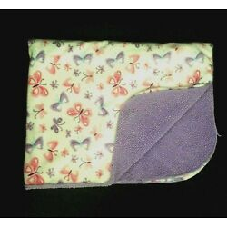 Kyпить Cuddletime Cuddle Time White Pink Purple Sherpa Butterfly Baby Blanket Security на еВаy.соm