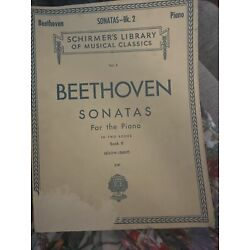 Kyпить Schirmer's Library of Musical Classics Piano Beethoven Sonatas Volume 2 1923 на еВаy.соm