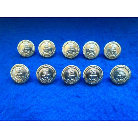 img-10 X NEW ROYAL NAVY 19MM ANODISED GOLD OFFICERS JACKET/BLAZER NAVAL BUTTONS