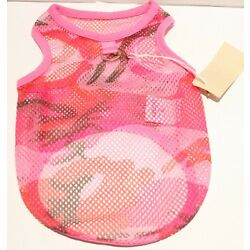 Gooby Cooling Mesh Dog Tank Top Shirt w/Leash Ring for SMALL BREED Dog