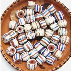 American Flag (Red Core) Trade Bead