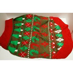 Blueberry Pet Christmas Pullover Dog Sweater Candy Cane 20''