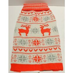 Blueberry Pet Christmas Pullover Dog Sweater Young and Bold Reindeer 12'' or 20''