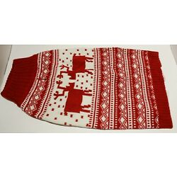 Blueberry Pet Christmas Pullover Dog Sweater Festive Red Reindeer 14''
