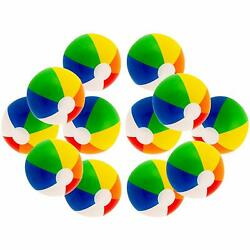12'' Rainbow Colored Party Pack Inflatable Beach Balls - Beach Pool Party Toys