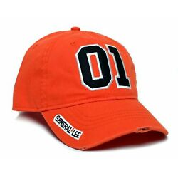 New General Lee 01 Orange Embroidered Cotton Twill Cap Hat Dukes of Hazzard