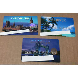 Kyпить Lot Of 3 Expired Credit Cards For Collectors - Discover Cards (9157) на еВаy.соm