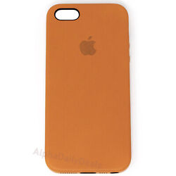 Genuine OEM Apple Brown Leather Case for iPhone 5 5S SE