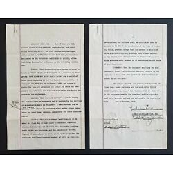 Kyпить C1932 1 OF A KIND SIGNED ALFRED CHENEY JOHNSTON BLIND STAMPED ESTATE CONTRACT на еВаy.соm
