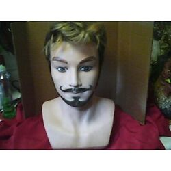 Kyпить Male Pivot Point Mannequin Large Head With Hair & Beard Used Condition на еВаy.соm