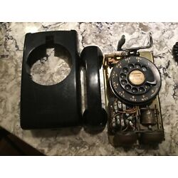 Kyпить 1956 BELL SYSTEM BLACK ROTARY DIAL WALL TELEPHONE #554 UNTESTED на еВаy.соm