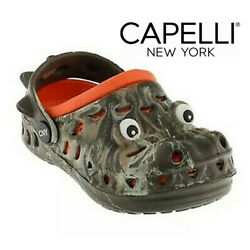 NWT CAPELLI NEW YORK Toddler Boy's Rubber Clogs Alligator Slip On Green Size 5