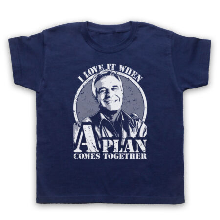 img-A TEAM HANNIBAL I LOVE UNOFFICIAL PLAN COMES TOGETHER KIDS CHILDRENS T-SHIRT