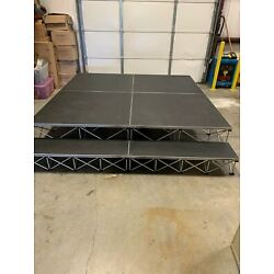 IntelliStage 8'x8' Portable Stage w/ Stairs and Travel Case