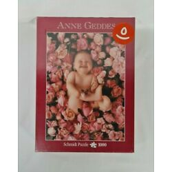 New - Vintage Anne Geddes Baby Roses Jigsaw Puzzle Flowers Schmidt 1000 Pieces