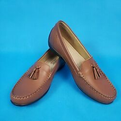 Hotter Comfort Concept  9.5 US Leather Loafers ~ ''Charm'' ~ Saddle Brown ~