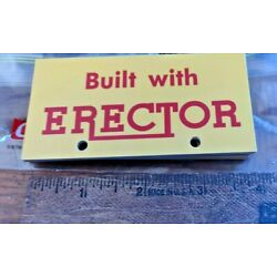 20 PLASTIC COATED CARD STOCK A.C. GILBERT ERECTOR DISPLAY PLATE SIGNS