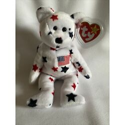 RARE TY GLORY Beanie Baby with Numbered Tush Tag and Tag Errors. 1998.   Mint!
