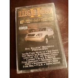 ILLEGAL AMIGOS II Texas Cali Connection SEALED Rap Tape South Park Mexican UNLV