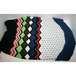 Blueberry Pet Blue & White Diamond Pattern Pullover Dog Sweater - 14'' or 20''