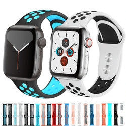 For Apple Watch Sport Band Silicone iWatch Series SE1-7 38/40/41mm  42/44/45mm