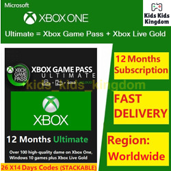 XBOX GAME PASS Ultimate 12 Months Membership LIVE GOLD+GAMEPASS 1 Year