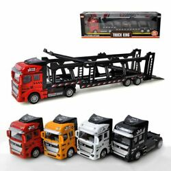1/48 Truck Car Alloy Diecast Model Transport Truck Vehicle Carrier Kids Toy US