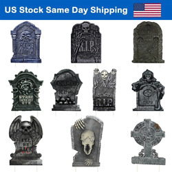 Yard Sign for Halloween Tombstone 10PCS Garden Signs RIP Cemetery Decorations US