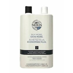 Nioxin System #2 Cleanser Shampoo & Scalp Therapy Conditioner 33.8 oz Duo