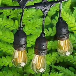 Outdoor Edison Lights Commercial Weatherproof - Patio Lights 48FT with 17 LED...