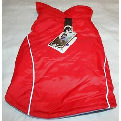 Gooby Dog Reflective Fleece Lined Sports Vest w/Leash Ring SMALL BREED XL 14''