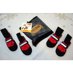 Muttluks Fleece Lined Boots Booties for Dogs Size XS RED