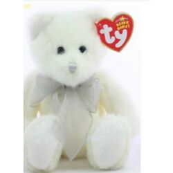 TY Beanie Baby - EGGNOG the Bear (Exclusive) (7.5 inch) - BNWT - RARE  RETIRED*