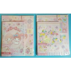 MY MELODY Letter Sets - Perfume, Rose Flowers - 2 Packs Sanrio Stationery New