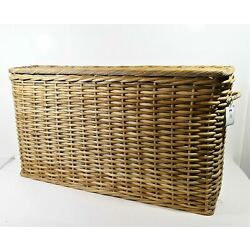 Pottery Barn Aubrey Woven Oversized Basket Natural LOCAL PICKUP ONLY, AUSTIN TX