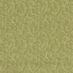 Vintage Cotton Green Vine Fabric by Classic Cottons 1998 ~  By The Yard X 45''