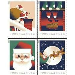 5644-47 A Visit From St. Nick Stamp Set Of 4 Singles Mint/nh Delivery After 10/7