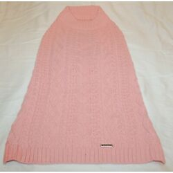 Blueberry Pet Wool Blend Cable Knit Interlock Dog Sweater - Muted Pink 16''