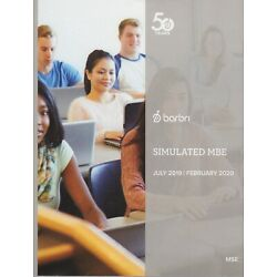 2019--2020-BRAND NEW-BARBRI MULTISTATE SIMULATED MBE-CAN USE FOR UBE BAR