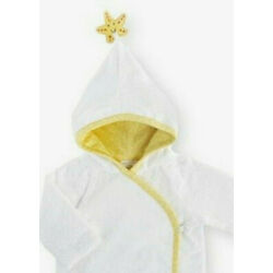 Bath Wrap Robe Infant 5T Warm Lux Plush Shower Gift Embroidered Fish Star