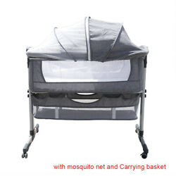 Breathable Bassinet for Baby, Portable Bedside Bassinet Sleeper + Mosquito net