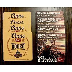 Coors Banquet Beer coasters Cowboy Rodeo Style You Receive 8.  Free Shipping