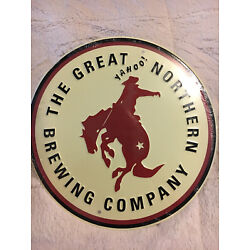 The Great Northern Brewing Co Whitefish Montana Tin Tacker Metal Sign New Sealed