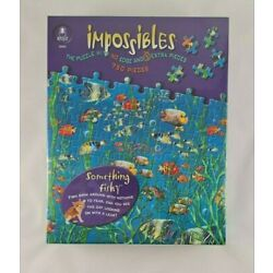 Bepuzzled Impossibles Puzzle Something Fishy 750 Pieces No Edge & Extra Pieces