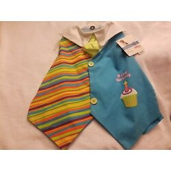 Petco Dog ''It's My Barkday'' Birthday Vest Blue and Stripes Size Large 16 - 18 in