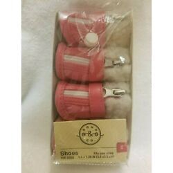 Bond & Co Shoes for Dogs Pink for Paw Sizes XS 1.5 x 1.38 in (3.8 x 3.5 cm)