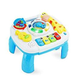 Baby Toys 6 to 12-18 Months Musical Educational Learning Activity Table White